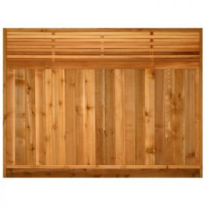 Cedar Fence Panel - Basket Weave
