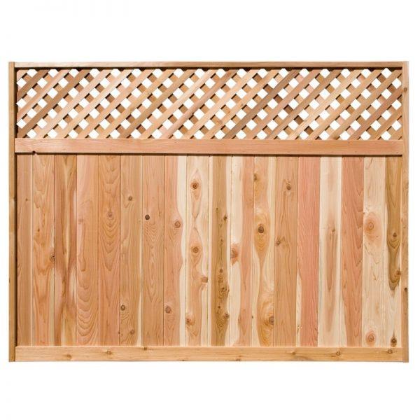 Cedar Fence Panel - Diagonal