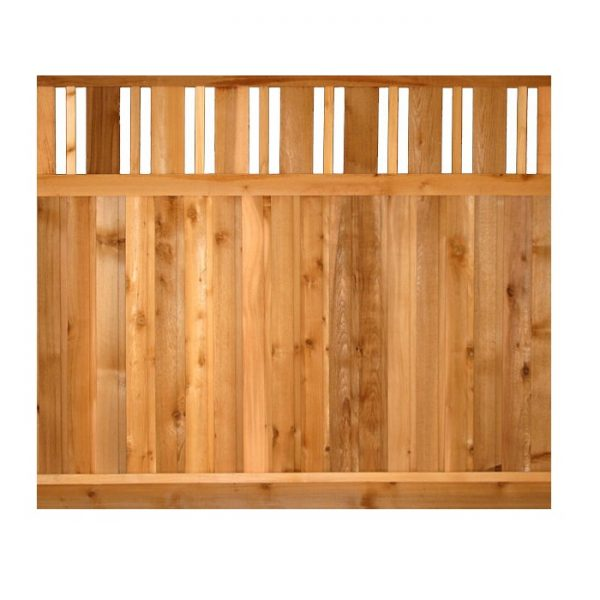 Cedar Fence Panels - Valley Top