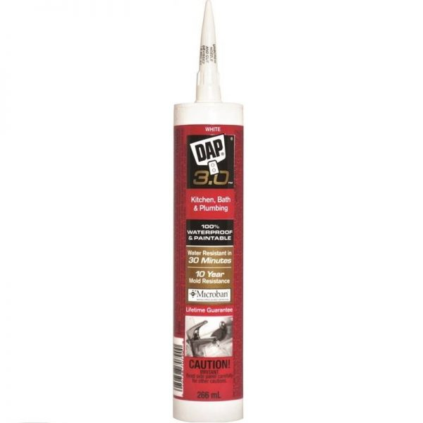 Dap 3 hour Kitchen & Bath Sealant Gloss White